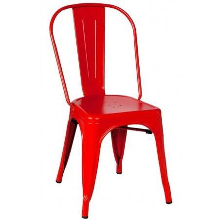 Set di due sedie impilabili rosse